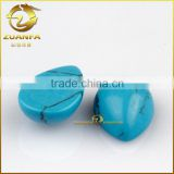 Blue pear loose turquoise synthetic turquoise cabochon flat back