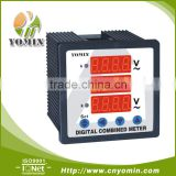 Manufacturer digital panel meter ,DX-Z96U3 96*96 Combination reading for 3 voltage meter (3P3W&3P4W purpose)