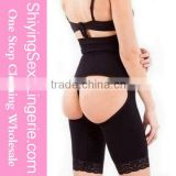 New Stylish Wholesale Black Sexy Cutout Lace Trim Butt Lifter Underwear Girl Transparent