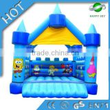 New design bouncy castle,adult inflatable bouncer,blue inflatable bouncer