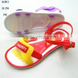 China Manufacturer High Quality girls children fancy PVC jelly sandals