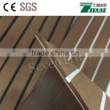 Synthetic teak pvc marine decking