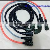 MS3106A-24-7 16 pin F/M 14*16#+2*12# circular connector(solder +assembly) The servo wire harness
