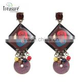 Discount jewelry new arrival mix color painting dangle earrings for women