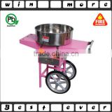 industrial gas cotton candy machine with cart,automatic cotton candy machine