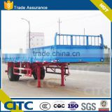 light duty side wall semi trailer for bulk goods, single axle semi trailer with side door open