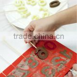 FD-006 cake decoration kid use tool factory wholesale silicone letter mold