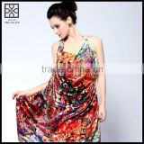 100% Silk Digital Printed Beach Cover Up Scarf