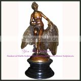Garden Antique Bronze Nude Beauty Statue