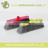 China Factory Candy Color Sweeping Broom Brush 2246 Household Cleaning Plastic Broom Brush