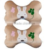 100% polyester bone pillow for embroidery dog bone pillow LS-B-003-A car pillow bone shaped