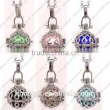 FN3168 High quality round bell ball pendant necklace, baby bola charm necklace 2015