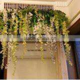 Artificial wisteria wall hanging flower decoration buy directly from factory