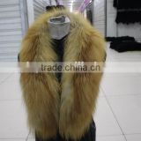 Red fox fur ox horn banana collar with legs