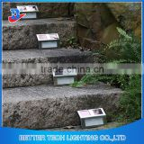 Waterproof Solar Stair Step Sensor Light Outdoor Solar Sensor Light 2 LED Solar Powered Stainless Steel