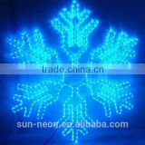 2D Green and Blue Snowflake LED Rope Light for Christmas Decoration Outdoor & Indoor