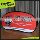 Clear Smart Indoor Outdoor Wrinkle Free Fabric Printed advertising horzontal pop up a frame banner stand