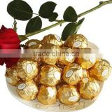 Custom Made Gold Embossed Aluminum Foil Paper For Chocolate Wrapping with FDA certificate factory price