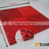 INquiry about TANFU Red Good Quality Expo Plastic Flooring for Heli Expo and Trade Show & Event & Garage