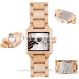 New Watches Wood Men Big Face Analog Quartz Watches Business Men Casual Men Dress Watches
