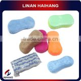 China manufacture Full color magic microfiber car Cleaning sponge block and coral fleece gloves
