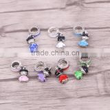 Enamel Metal Girl Silver Plated European Charms Dangles Beads Fit Charms Bracelets Necklace