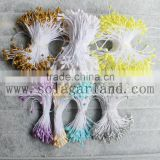 6CM Factory Wholesale Artificial Flower Pistils Flower Stamen With Glitter For Decoration Wedding Flowers