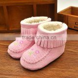 Factory direct sale OEM packaging bag custom logo baby winter boots, snow baby shoes, girls cute winter boots
