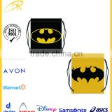 Batman Pattern Polyester Fabric Basketball Drawstring Bags ,Drawstring Tote gym bag