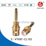 "3/4"" brass quick open faucet ceramic disc cartridge with long lever"