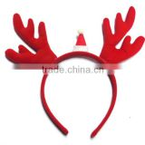 Christmas and party decoration hairband headband with cute christmas animal ears hot sell velet fabric headband for gift
