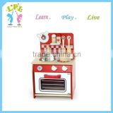 LPL brand high quality wooden educational kids toy kids mini Kitchenware set wooden kitchen toy for sale