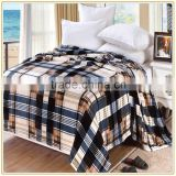 New Design Checked Printed Blanket Flannel Blanket Factory China