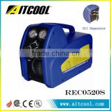 Hot sale portable dual cylinder refrigerant recovery machine with oil separator RECO520S