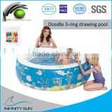 drawing swimming pool / kids DIY pool /inflatable drawing pool