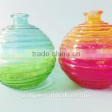 500ml eco-friendly colorful decorative glass water container bottle