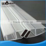 PROWAY Shower Door Seal Silicone PVC Strip Waterproof Frameless Weather Strip Shower Door Transparent Strip