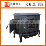 Big Size Indoor Freestanding Enamel Fireplace/wood burning stove for Home heating DHF737