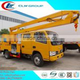 DONGFENG hydraulic lift platform truck , 12m High altitude work vehicle