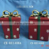 Ceramic Christmas Gift box-Christmas ceramic box gift for decoration and weeding gift-Ceramic Christmas Gift Box