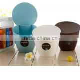 Promotional circular cover desktop trashcan desktop bin