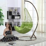 Outdoor rattan balcony swing hanging chair
