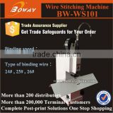 Desktop office use book iron wire saddle stitching agrafeuse machine