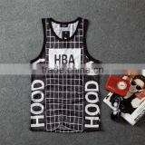 custom best quality fashion 3d sublimation mens tank top