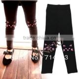 New Cotton Cute Baby's Girl's leggings Little Cat Ankle-length Pants Leggings black plus Size 13759