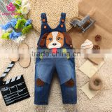 Funny Dog Pattern Baby Jeans Cute Overalls Children Denim Overalls Baby Fashion Strap Long Pants Jeans