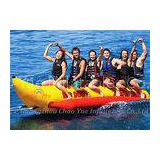 6 Person Tarpaulin PVC Inflatable Boat , Banana Boat Tube With 3 Pcs Valve