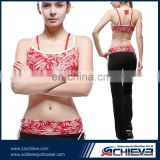 wholesale OEM factory sportswear type yoga wear sexy bra and panty new design print colorful fitness legging