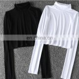 Fashion Long Sleeve T-shirt Black Short Style White Star Style