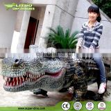 Outdoor Robotic Rubber crocodile Ride